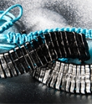 Браслет Andrew Christian - Spine (голубой)