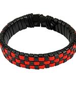 Браслет Spikes (черный/красный)