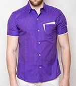 Рубашка Time of Style - 3108 (фиолетовый)
