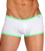 Боксеры Wild Milk - Neon Stripes (белый/зеленый)