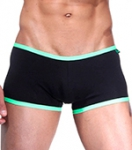 Боксеры Wild Milk - Neon Stripes (черный/зеленый)