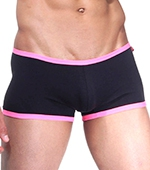 Боксеры Wild Milk - Neon Stripes (черный/розовый)